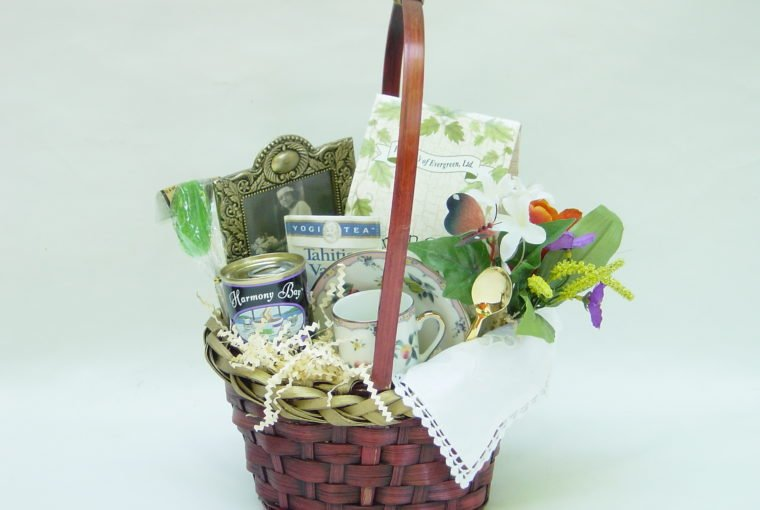Gift Basket Designs with Dignity, from The Gift Basket Design Book, by Shirley George Frazier. All rights reserved.