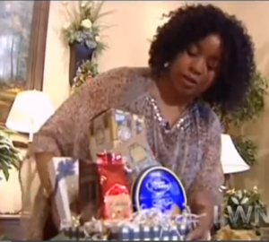 The Scoop on Getting Gift Baskets on TV, by Shirley George Frazier. All rights reserved.