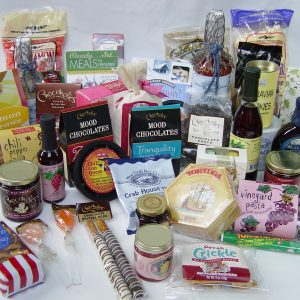 Foods and Gifts on Your Gift Basket Shopping List, by Shirley George Frazier. All rights reserved.