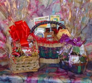 How Not to Take a Gift Basket Picture, by Shirley George Frazier. All rights reserved.