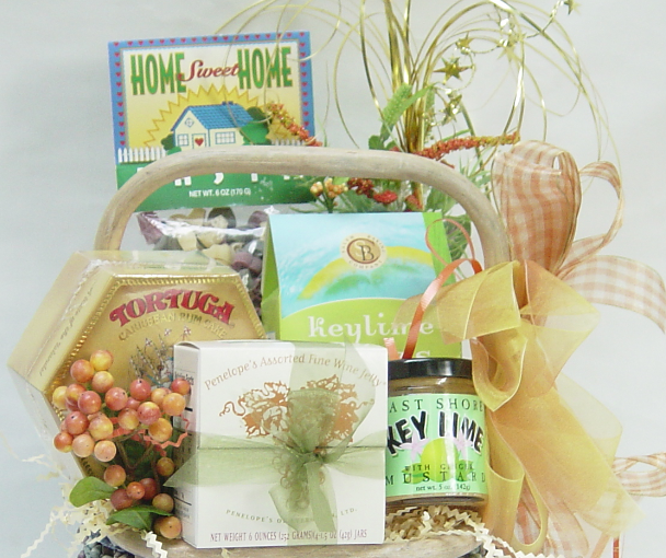 What to Put in a New Home Gift Basket, by Shirley George Frazier. All rights reserved.
