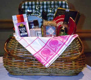 How to Make Gift Baskets with Local Products, by Shirley George Frazier. All rights reserved.